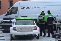 Andreas Mikkelsen prueba el Fabia R5 para el Montecarlo