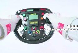 [Vídeo] La evolución de los volantes de F1 a lo largo de la historia