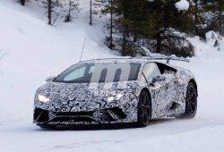 Lamborghini Huracan Performante: cazada la versión más poderosa en la nieve