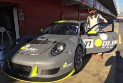 Robert Kubica prueba un Porsche 911 GT3 en España