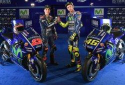 Rossi y Viñales presentan la nueva Yamaha YZR-M1