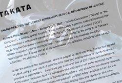 Takata acepta un pacto con la justicia de EEUU