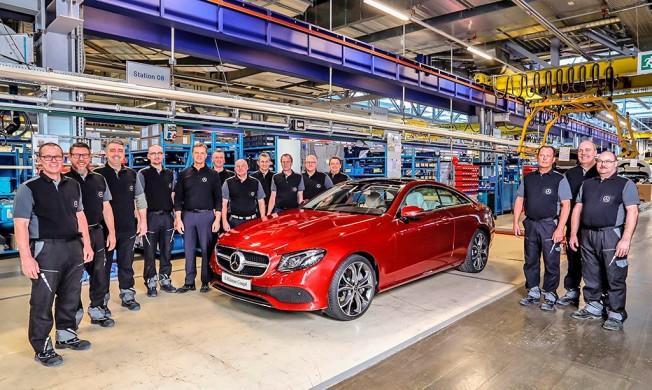 Mercedes Clase E Coupé 2017 - producción