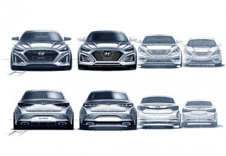 Hyundai destapa el Sonata 2018 con unos bocetos, confirmada la versión deportiva
