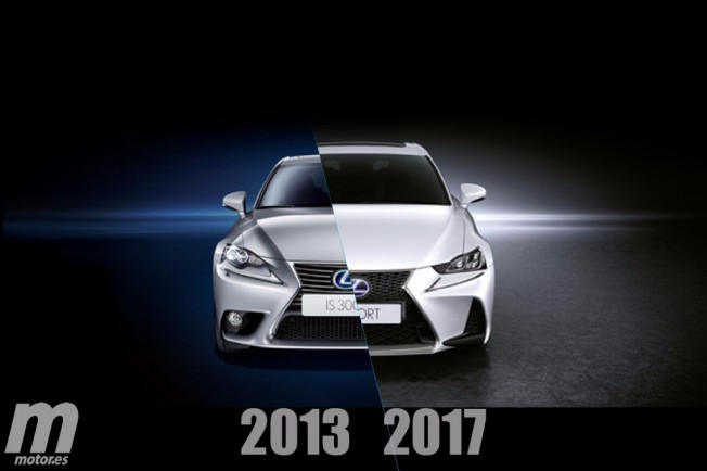 Lexus IS 2017 - comparativa de cambios