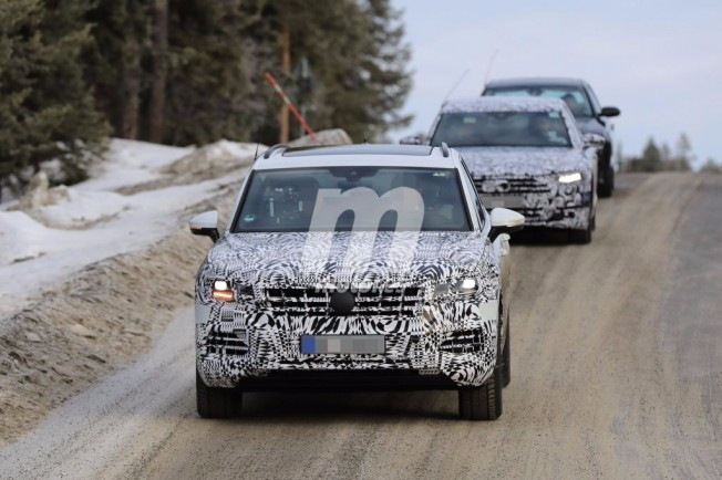 Volkswagen Touareg 2018 - foto espía frontal