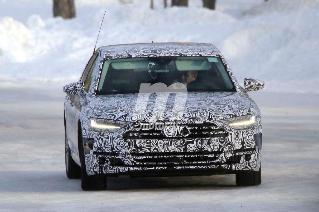 Audi S8: la nueva versión deportiva también cazada en la nieve