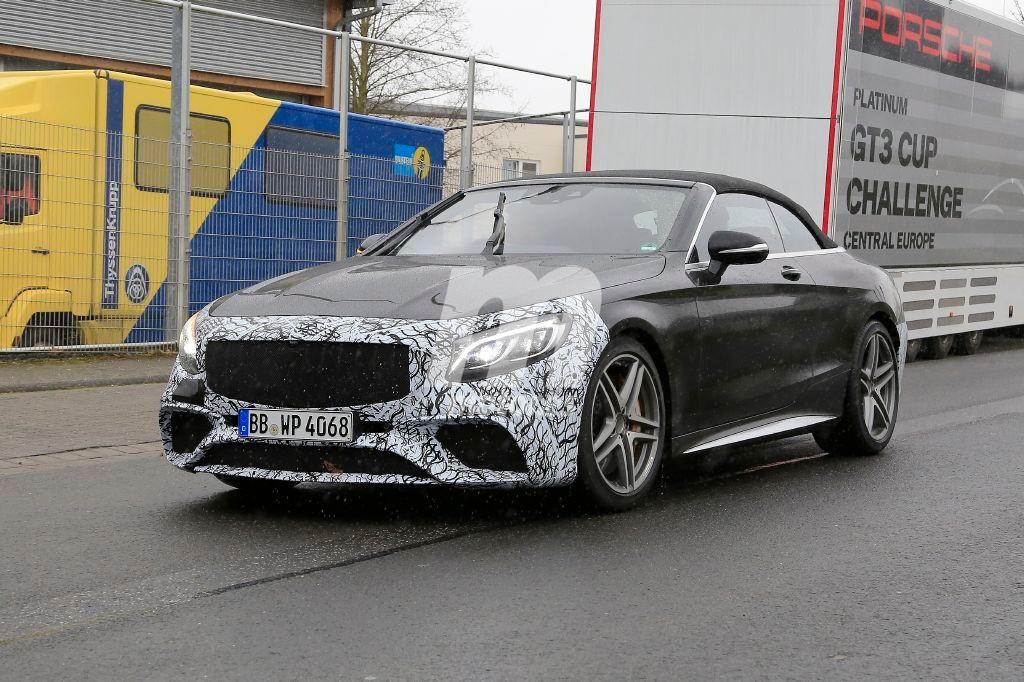 Comienzan las pruebas del lavado de cara del Mercedes-AMG S63 Cabrio