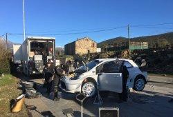 Esapekka Lappi prueba el Toyota Yaris WRC en asfalto