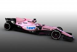 Force India baña su coche en rosa por su nuevo patrocinador