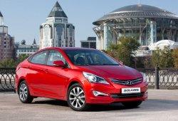 Rusia - Febrero 2017: Declive del Hyundai Solaris a la espera de su relevo