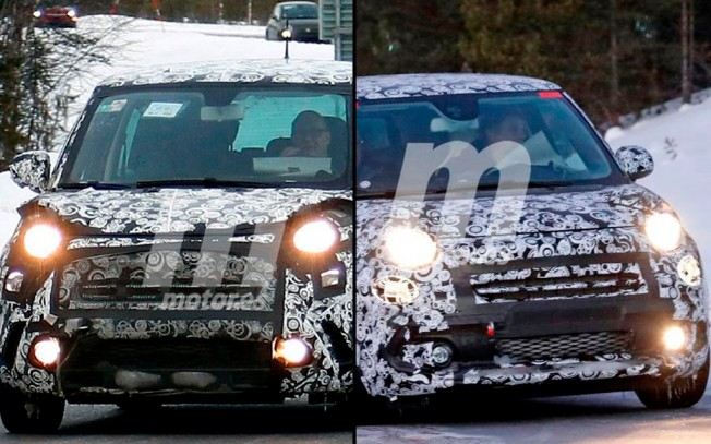 Fiat 500L Trekking y Fiat 500L comparación - fotos espía