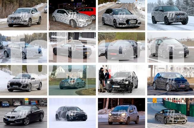 Recopilación de fotos espía de coches - Febrero 2017