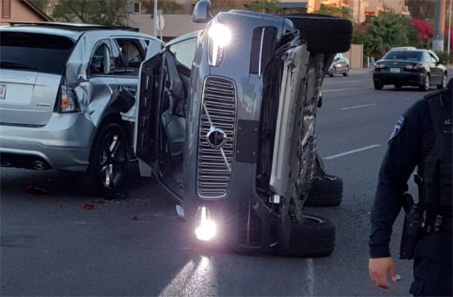 Accidente de un coche autónomo de Uber