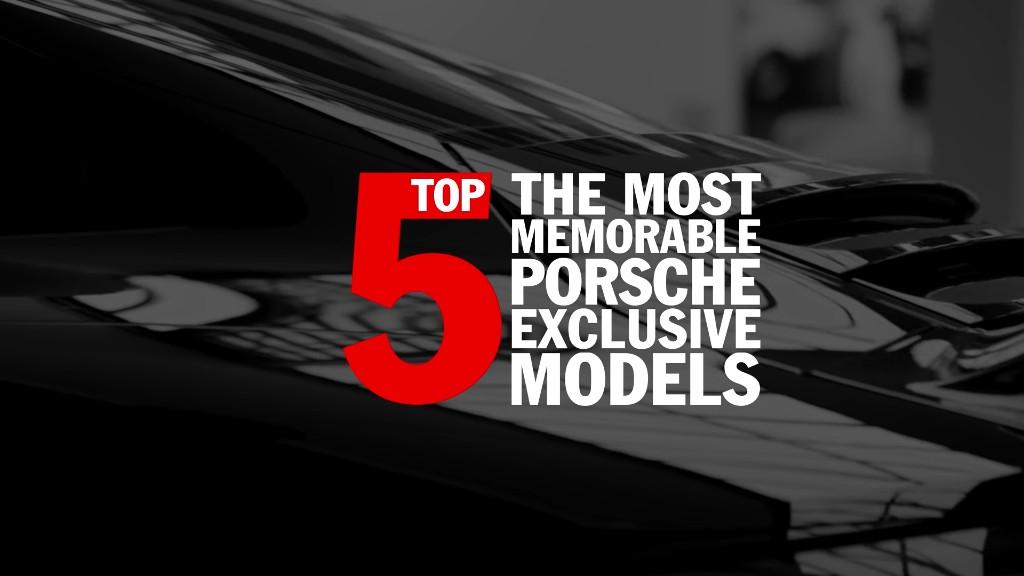 Video: Los 5 modelos más memorables de Porsche Exclusive con sorpresa incluida