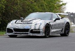 Chevrolet Corvette ZR1: al mínimo de camuflaje en Nürburgring a la caza de un crono
