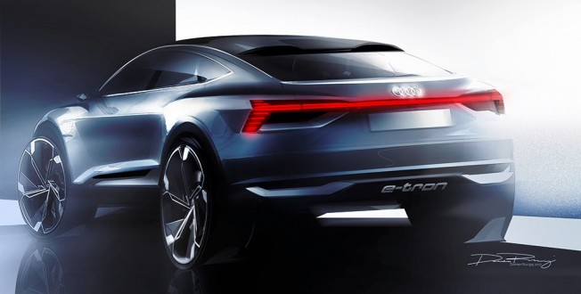 Audi e-tron Sportback Concept - boceto