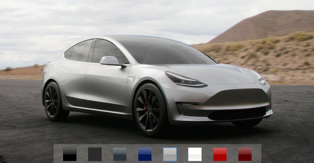 Tesla Model 3: diviertete con el configurador no oficial del modelo