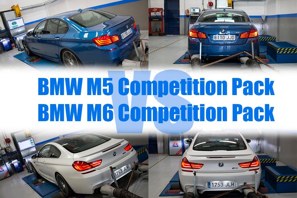 Prueba en banco de potencia: BMW M5 Competition pack vs M6 Competition pack