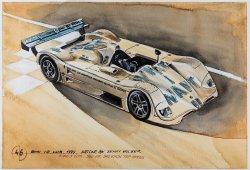 La historia de BMW Motorsport en 101 increíbles pinturas realizadas con café
