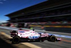 Discreto y laborioso inicio de Force India en Barcelona