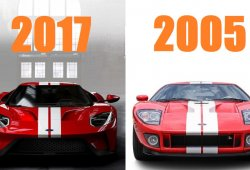 El Ford GT 2017 frente al GT 2005 en vídeo