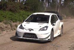 Toyota se entrena para el Rally de Portugal en Fafe