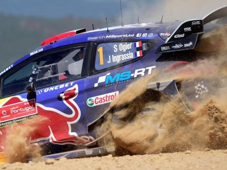 Sébastien Ogier sabe pescar en el Rally de Portugal