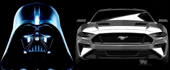 Darth Vader y Ford Mustang 2018