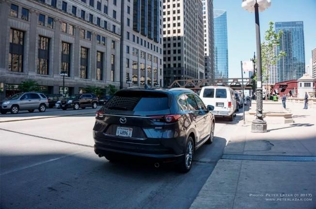 Mazda CX-8 2018 - foto espía posterior
