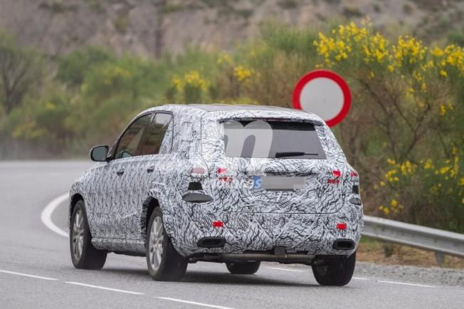 Mercedes GLE 2019 - foto espía posterior