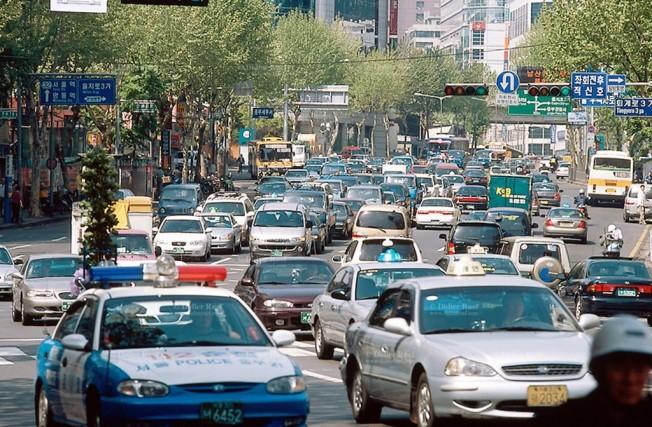 Tráfico en Seúl - Corea del Sur
