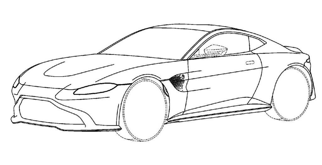 Aston Martin Vantage: su nuevo diseño se filtra por unos bocetos de patente