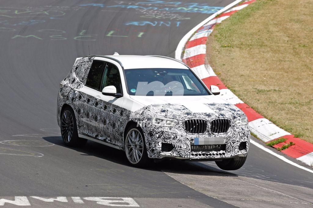 BMW X3 M 2018: cazado en Nürburgring en su formato definitivo