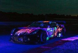 El Corvette 'art car' de Larbre brilla en la noche de Le Mans