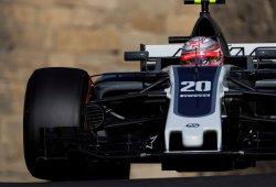 Magnussen hace soñar a Haas con los puntos en Bakú