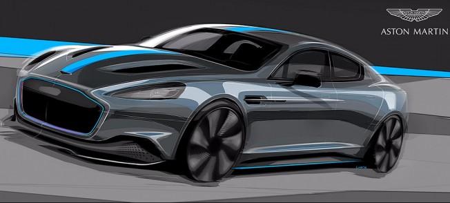 Aston Martin RapidE - boceto