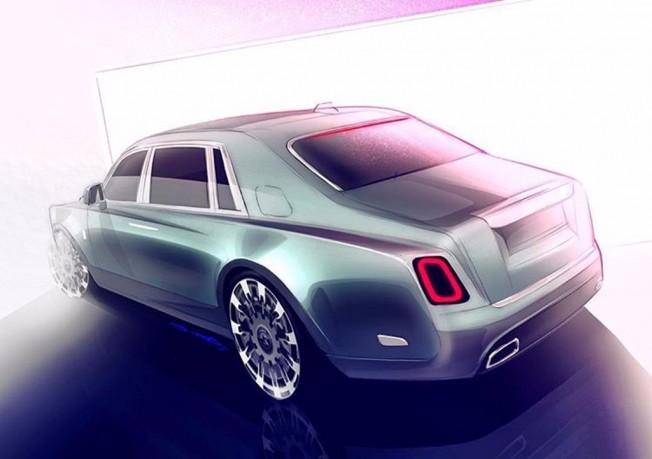 Rolls-Royce Phantom 2018 - boceto