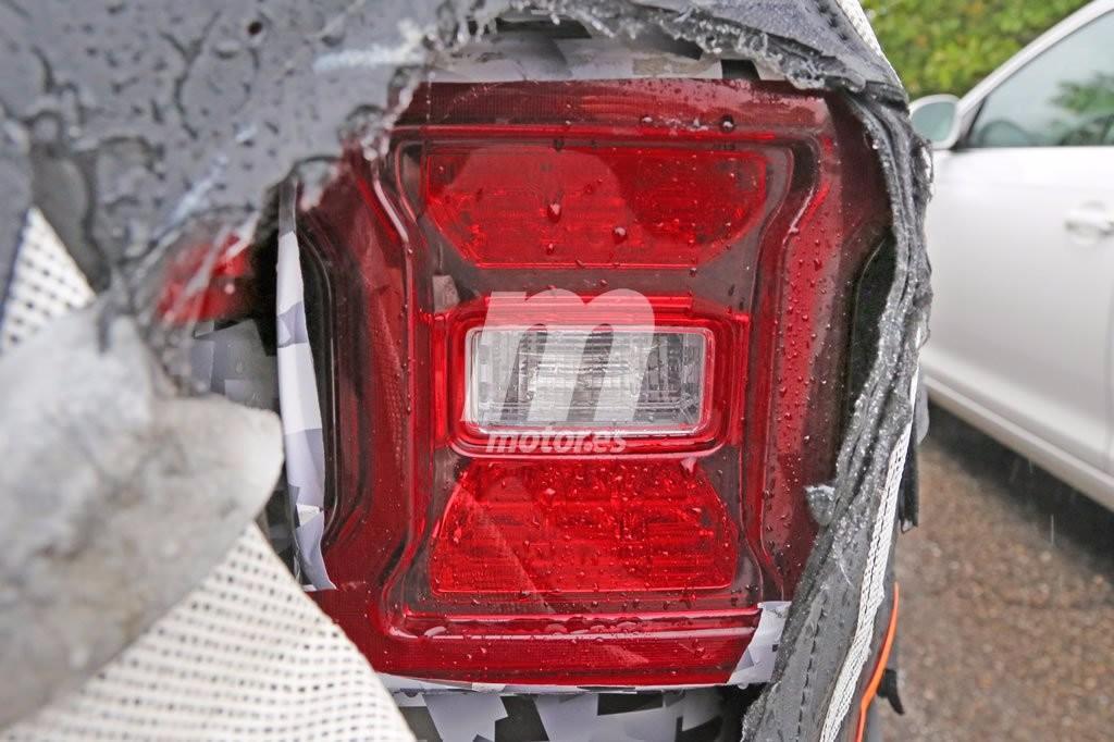 Las ópticas traseras del Jeep Wrangler 2018 totalmente al descubierto