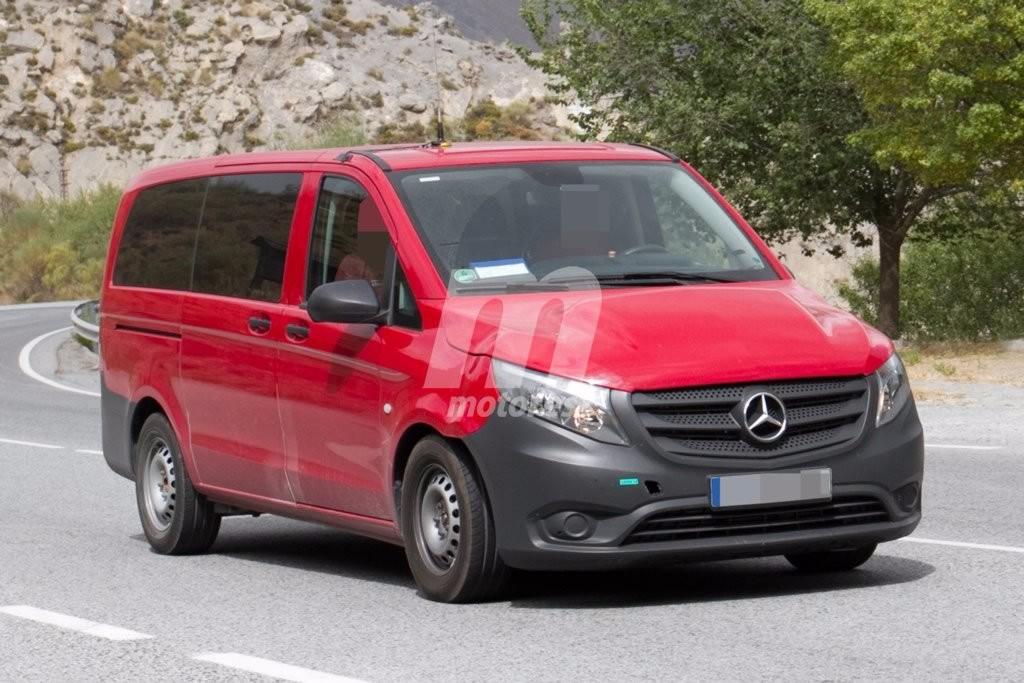 Cazada una mula del nuevo Mercedes Vito EV que llegará en 2018
