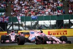 Ocon aguantó los envites de Pérez durante todo el Gran Premio