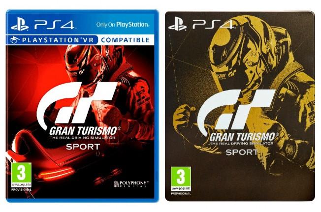 Gran Turismo Sport - carátulas