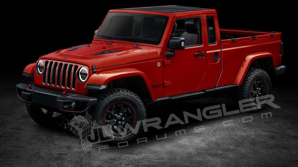Jeep Wrangler JT: así será la nueva variante pick-up del Wrangler