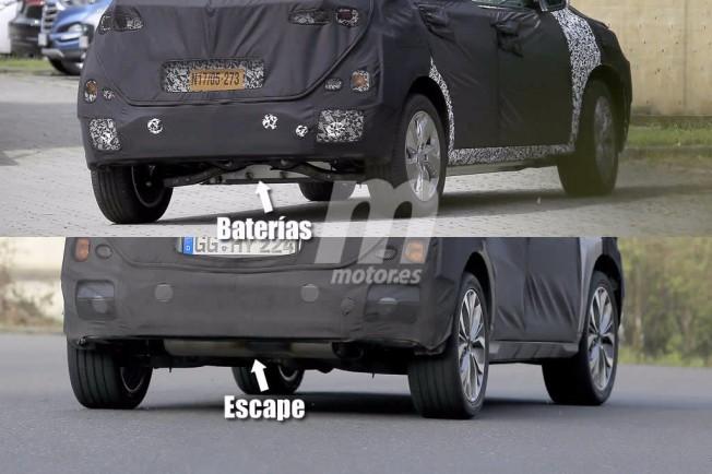Hyundai Kona Eléctrico - foto espía comparativa