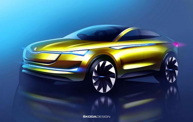 Skoda Vision E Concept - boceto