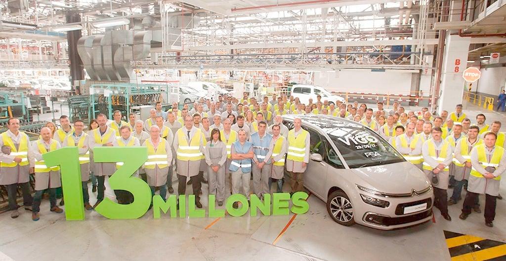 El Grupo PSA alcanza los 13 millones de vehículos producidos en Vigo