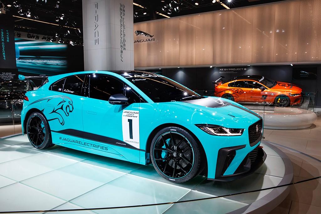 Jaguar i-Pace eTrophy Racecar, el nuevo eléctrico de competición en Frankfurt