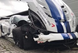El intento de batir el récord de Nürburgring con un Dodge Viper acabó en accidente