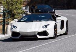 Cazado un Lamborghini Aventador Roadster potenciado en pruebas