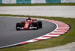 Los Ferrari mandan sobre seco en Sepang